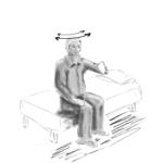 Exercitii pentru vertij in pozitie sezanda, la marginea patului